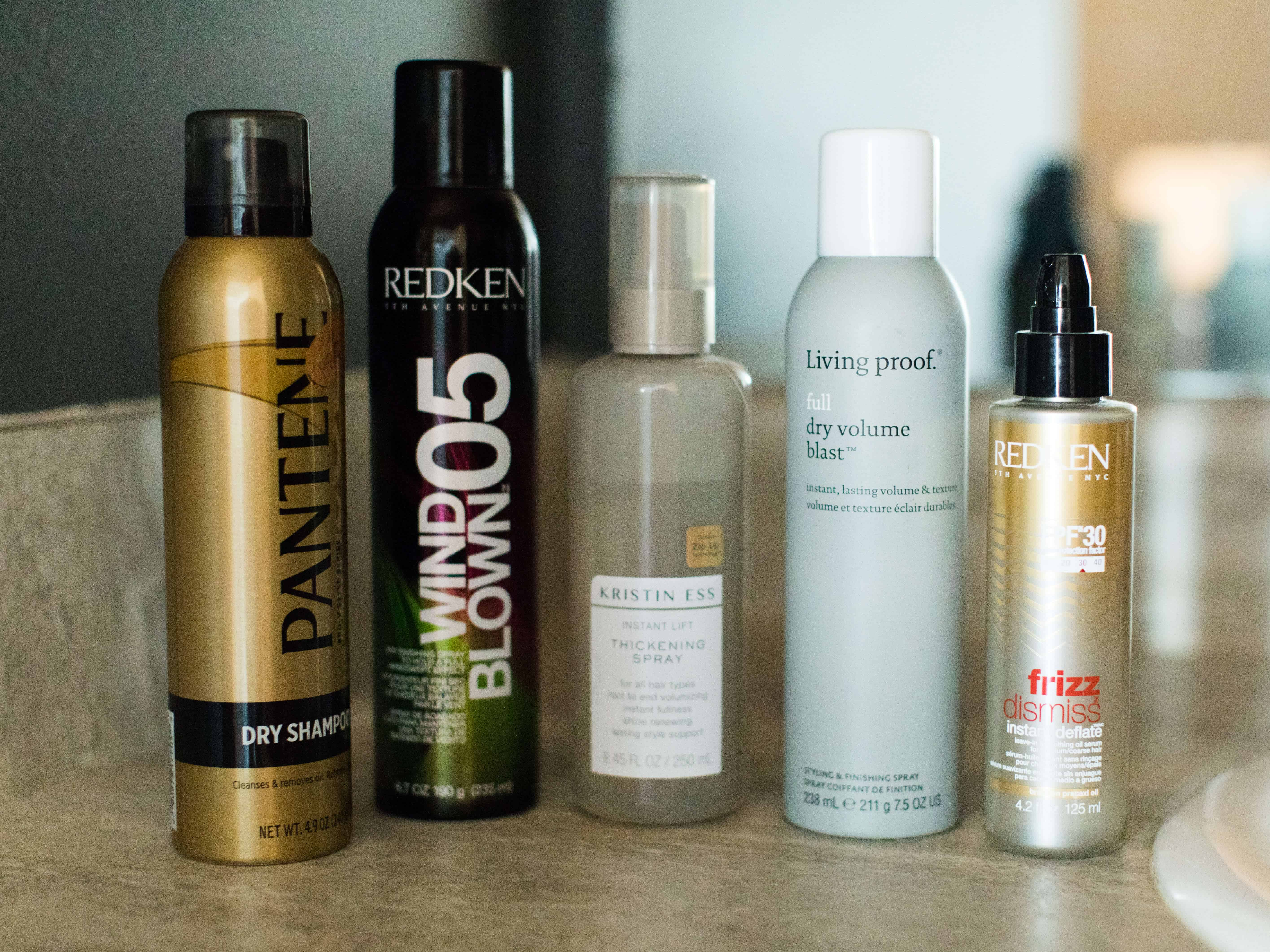 My Favorite Products For Creating Thicker & Full Hair #saveeandsavory #hairproducts #fullhair #thickhair #hairtutorials #redken #livingproof