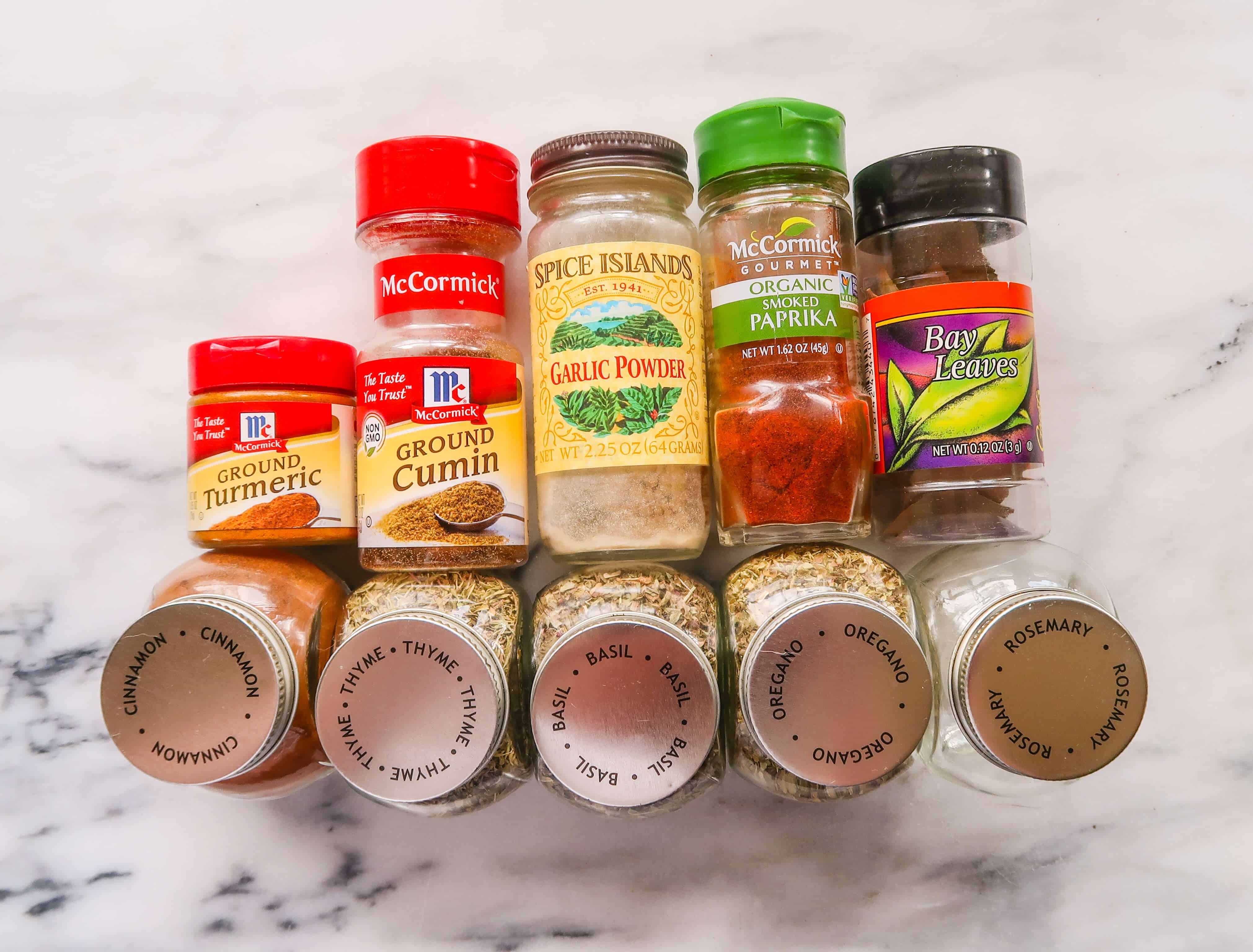 10 Spices You Need In Your Pantry #saveeandsavory #healthycooking #pantryessentials #healthyliving #basil #smokedpaprika #bayleaf #cumin #garlicpowder